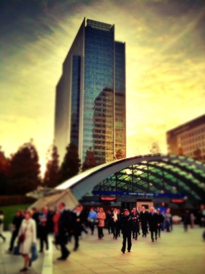 Day 63 – Canary Wharf disgorges…