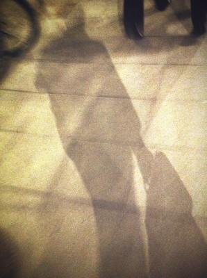Day 217 – Sidewalk self-portrait